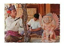 Bali - Art of Wood Carving - Postcard Franked 1981