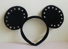 DISNEY HEADBAND TOKYO DISNEYRESORT BLACK MICKEY MOUSE STUDS STAR EARS JAPAN F/S