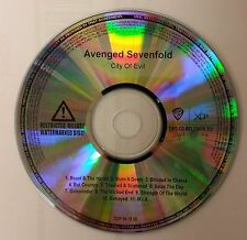 """AVENGED SEVENFOLD """"City of Evil"""" advance promotional watermarked CD acetate"""