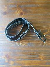 Hot Topic Brand Black Leather Paint splatter Stud Belt Size 36