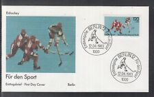 LA 344 ) Fantastic German Cover FDC 1983 -  For the sport: Ice Hockey
