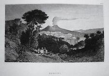 Neapel Napoli Vesuv Vesuvio Italien Italia 1850
