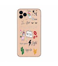 Coque Iphone 11 girl positive licorne cactus