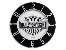 Harley-Davidson Mirrored Bar & Shield Logo Clock 14'' Bar Gameroom. 99365-10V