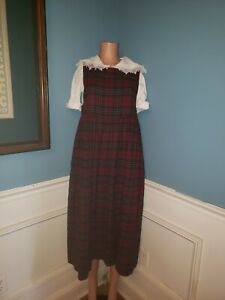 Laura Ashley Pinafore Apron Prairie Cottage Farm Dress US 10