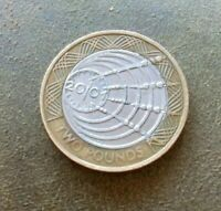 UK £2 Pound Coin 2001 Marconi 1st Wireless Transatlantic Circulated Collectable