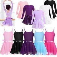 Toddler Girls Kids Dance Ballet Dress Gymnastics Leotard Tutu Skirt Dancewear