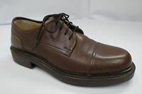 J CREW Brown Cap-toe Oxfords Mens 7 M made in ITALY Dress or Casual shoes