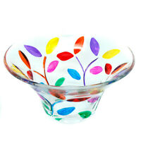 Murano Glass Sweet Candy Dish Bowl Jewellery Tray Circular Multi Colour Flower