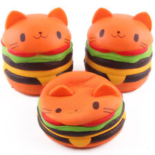 Kawaii Squishy Hamburger Cat Cake Slow Rising Scented Soft Squishies Squeeze Toy