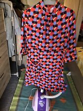 Red Geometric colorful dresses Size 8-10