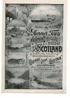 Summer Tours, Western Highlands, Scotland, Advert, Book Illustration, 1889