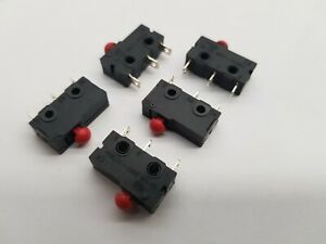 5pcs MICRO LIMIT SWITCH  PUSH BUTTON TYPE   12V/24V/250V  3A