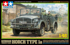 TAMIYA 1:48 KIT MEZZO MILITARE HORCH TYPE 1A CON 6 FIGURE   ART 32586