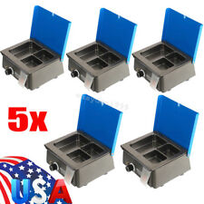 5 Sets Digital Dental 3 Well Analog Wax Melting Dipping Pot Heater Melter Waxer