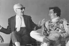 Enzo Ferrari & Gilles Villeneuve – 1979 GP Monza personal portraits - photograph