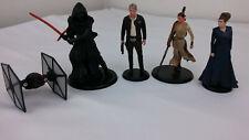 Disney Star Wars Lucas Films Figures - Kylo Ren, Han Solo, Tie Fighter, Rey