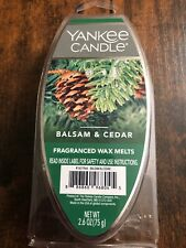 YANKEE CANDLE BALSAM & CEDAR FRAGRANCED WAX MELTS 2.6 OZ - NEW