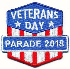 Girl Boy Cub VETERANS DAY PARADE 2018 Fun Patches Crests Badges SCOUTS GUIDES