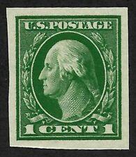 Doyle's_Stamps: Choice 1912 NH Green 1c XF Washington Imperf, Scott #408**