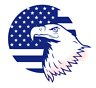 Eagle US Flag Stick Vinyl Decal Window Sticker Car