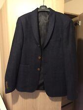 Asos Navy Blue Blazer Suit Sports Jacket next topman slim skinny