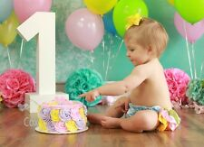 NEW Baby girl 3-24 MONTHS 1st birthday diaper cover bloomer smash cake prop set
