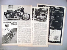 Norton 750cc Atlas Motorcycle Review MAGAZINE ARTICLE - 1965