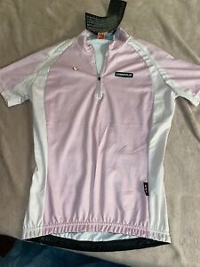 Nalini Pink & White Short Sleeve Cycling Jersey Size Small Brand New With Tags