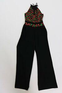 Whistles viscose novelty print 70s vintage style jumpsuit size 8