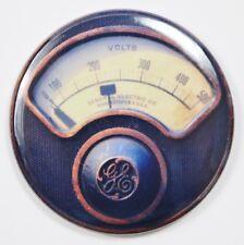 """General Electric GE Steampunk Gauge FRIDGE MAGNET Meter Vintage Style 2 1/4"""" Rnd"""