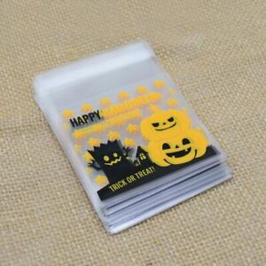 Halloween Candy Bags 50 PCS Plastic Pouch For Chocolate Treats Party Decoration
