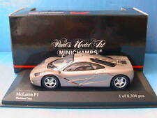MCLAREN F1 ROAD CAR PLATINUM GREY MINICHAMPS 1/43 GRIS