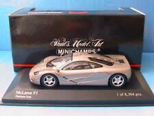 MCLAREN F1 ROAD CAR PLATINUM GREY MINICHAMPS 1/43 GRIS