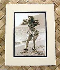 "Kim Taylor Reece ""Pohakea"" 8 X 10 Double Matted Hawaiian Hula Print - New"