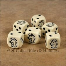 NEW Set of 6 Hedgehog Dice Six Sided Animal Bunco Game 16mm 5/8 inch D6 Koplow