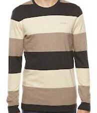 Nixon Cascade Long Sleeve Tee T-Shirt (M) Black Heather S1647542-03