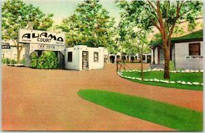 1950s BIG SPRING, Texas Postcard ALAMO COURT MOTEL Highway 80 Roadside Linen