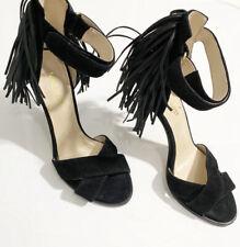 Nine West Womens Hustle Black Ankle Strap Heels  Sandals Size 6