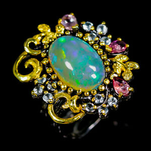 Opal Ring Silver 925 Sterling Super Top AAA+ 4ct+ Size 8.5 /R149009