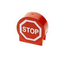 1 x Lego Duplo Motivstein rund rot 1x3x2 bedruckt Verkehrs Stop Schild 41970