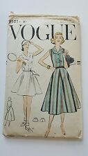 Original Vintage 1957 VOGUE Robe sewing pattern 9101 taille 14, 34 Poitrine, aux hanches 36