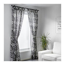 *IKEA Kungslilja Curtains, Grey/White, 145 x 300 cm - 603.129.04