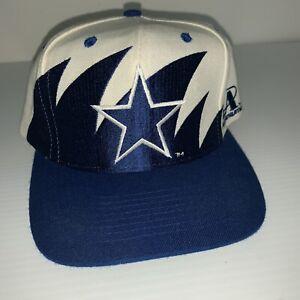 VTG Dallas Cowboys Shark tooth Iconic 90's Logo Athletic Snapback Hat NFL New