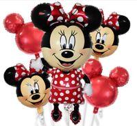 5 Palloni MINNIE TOPOLINA Disney Compleanno Festa Party