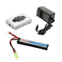 Tenergy 7.4V 1000mAh Airsoft Stick LiPO Battery Pack with Charger Option