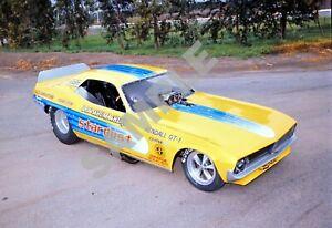 Don Schumacher Stardust Yellow Cuda Funny Car Drag Racing 13x19 Poster Photo 184