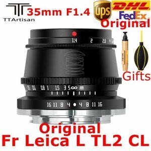 DHL TTArtisan 35mm F1.4 APS-C MF Lens for Sony Fujifilm M4/3 Canon Leica Mount