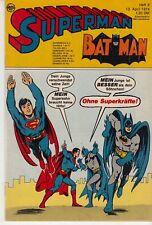 Superman 1974 Nr. 8 (1-) sehr schöner Zustand MIT BEILAGE Asterix Südmilch EHAPA