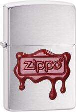 Zippo Choice Red Wax Seal WindProof Lighter Brushed Chrome 29492